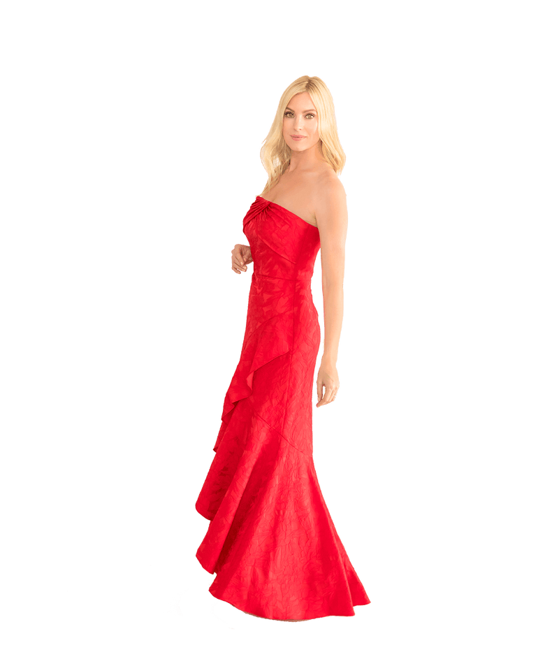 Lipstick Red Gown - Lady Jetset