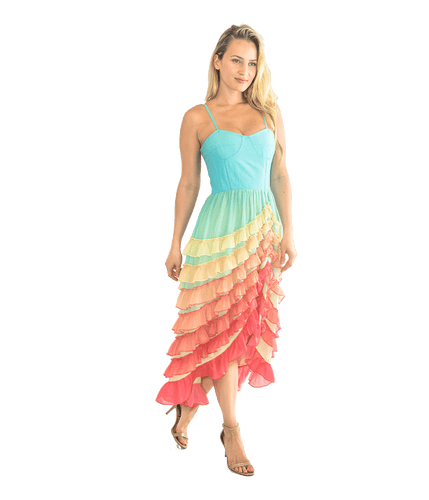 FINAL SALE Tiered Pastel Dress - Lady Jetset