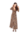 FINAL SALE Leopard Wrap Front Maxi Dress - Lady Jetset