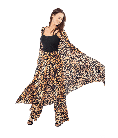 Leopard Wrap Front Maxi Dress - Lady Jetset