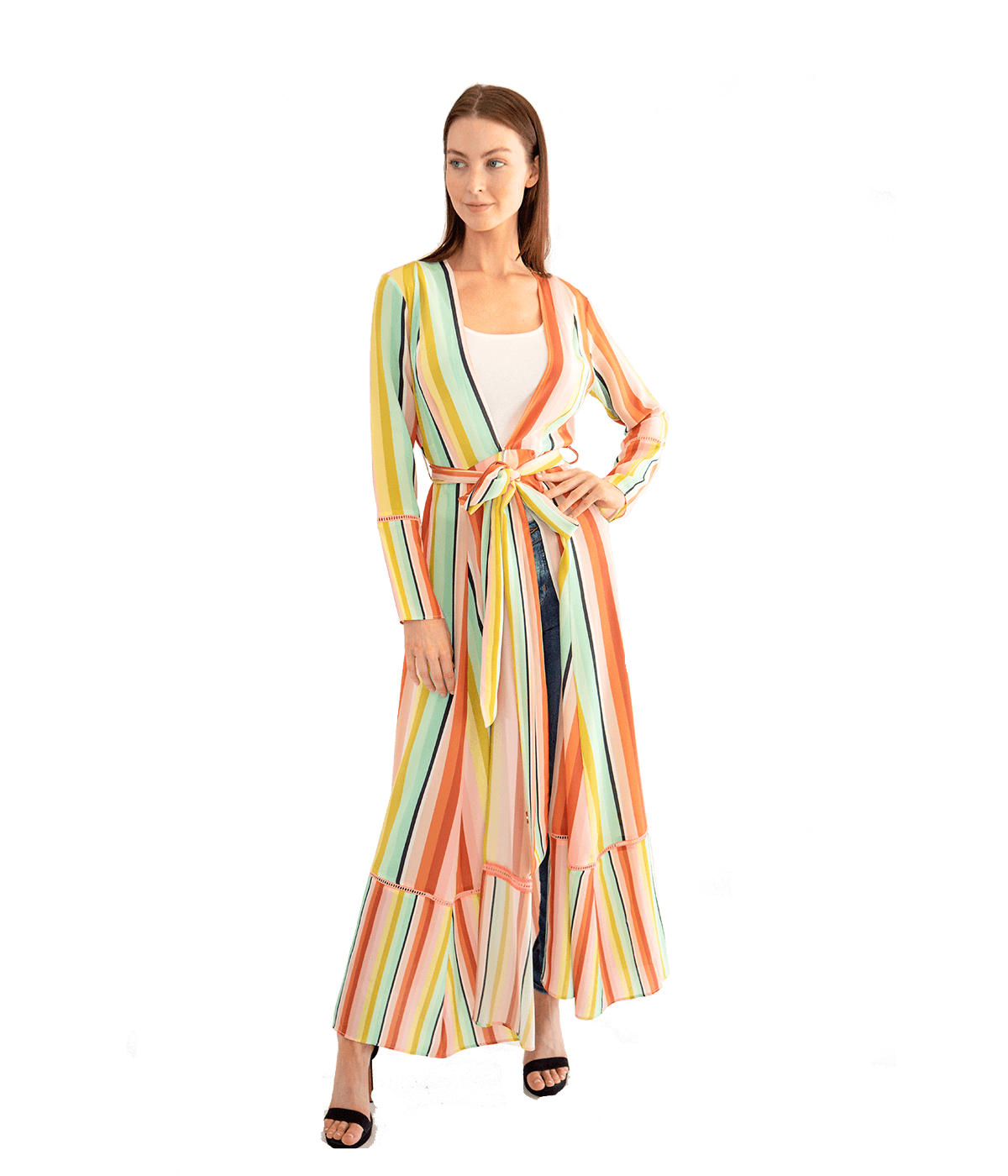 FINAL SALE Desert Stripe Maxi Cardigan - Lady Jetset