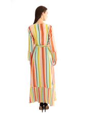 Load image into Gallery viewer, FINAL SALE Desert Stripe Maxi Cardigan - Lady Jetset