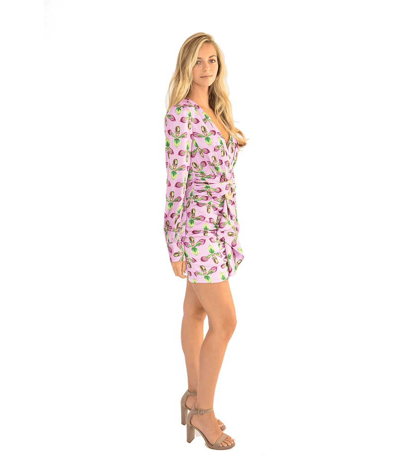Long Sleeve Belted Mini Dress - Lady Jetset
