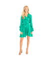 Ruffle Mini Wrap Dress - Lady Jetset
