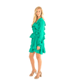FINAL SALE Ruffle Mini Wrap Dress - Lady Jetset