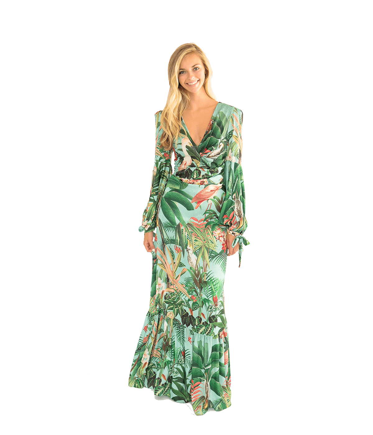Paradise Printed Maxi Dress - Lady Jetset