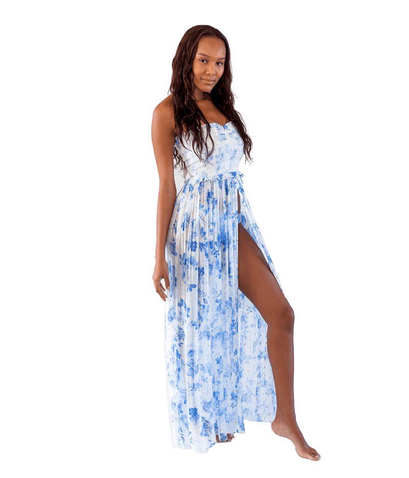 Blue Iris Long Dress