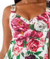 Peony and Rose Print Brocade Mini Dress - Lady Jetset