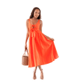 FINAL SALE Athena Lace Up Woven Dress - Lady Jetset