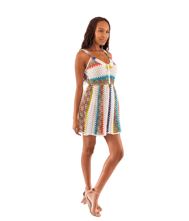 FINAL SALE Riato Zigzag Knit Mini Dress - Lady Jetset