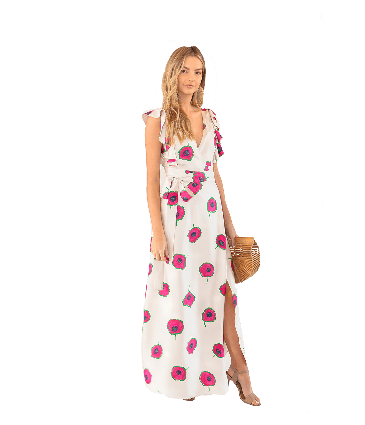 FINAL SALE Wedding Guest Papaveri-Print Cotton Dress - Lady Jetset