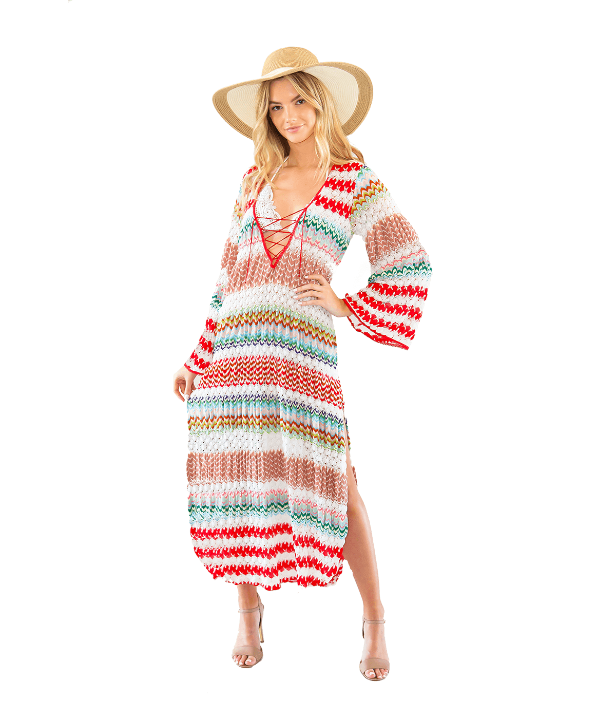 FINAL SALE Crochet-Knit Caftan - Lady Jetset