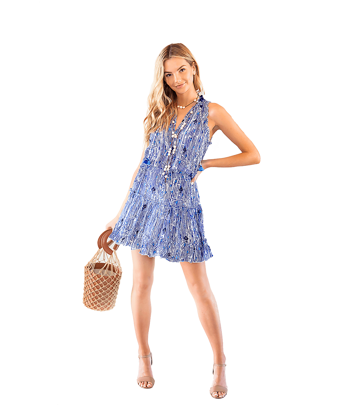 Blue Clara Mini Dress - Lady Jetset