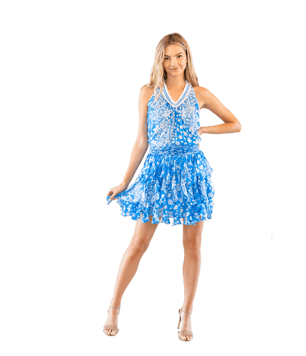Blue Beline Dress - Lady Jetset