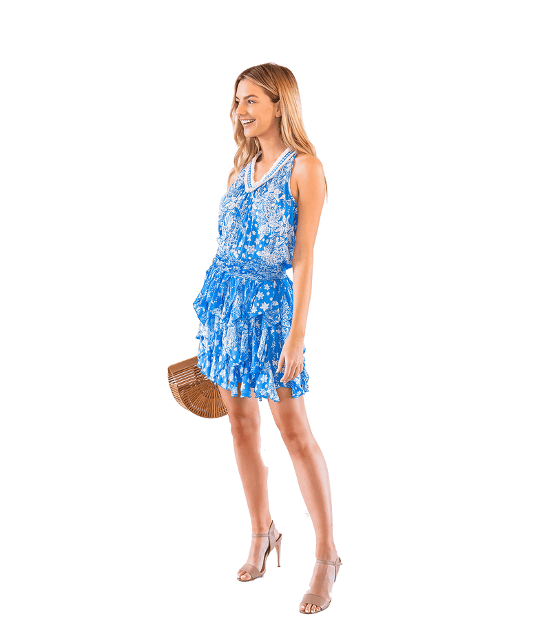 Blue Beline Dress