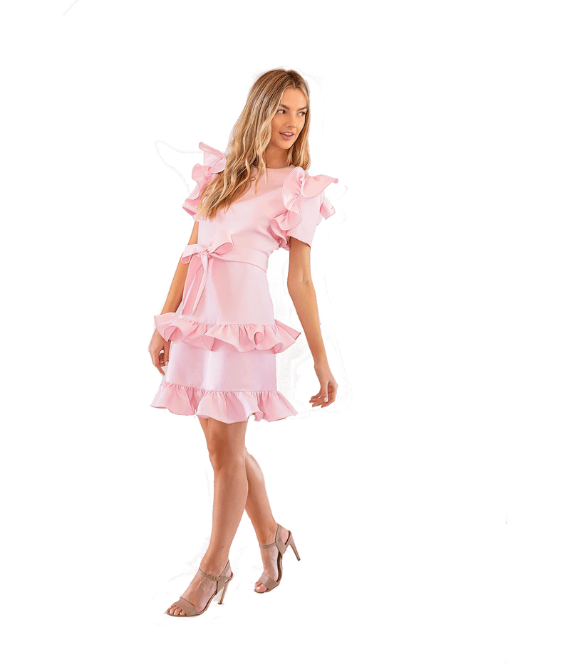 FINAL SALE - Tiered Truffle Dress - Lady Jetset
