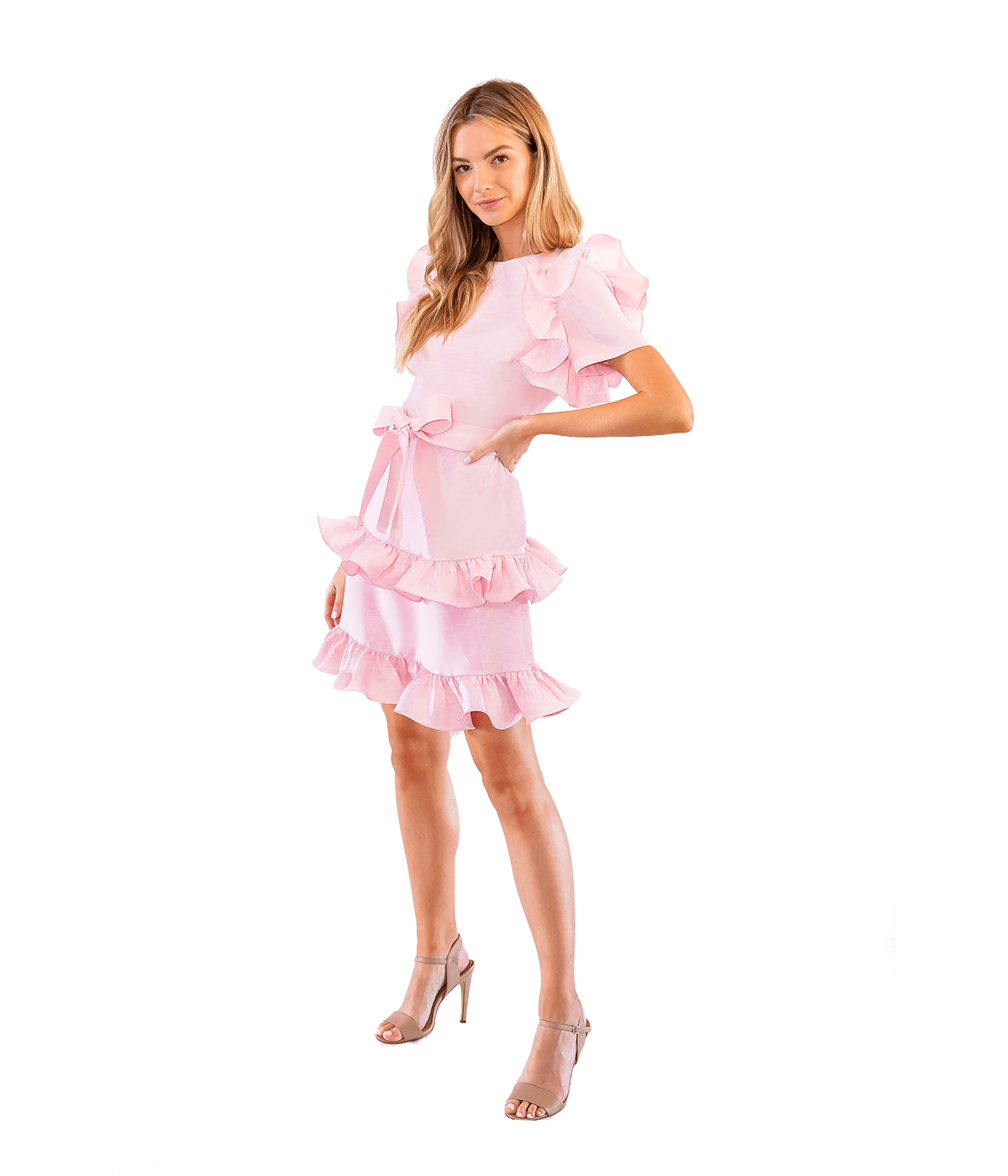 Tiered Truffle Dress - Lady Jetset
