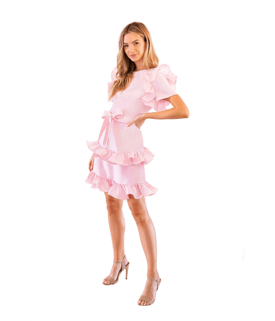 FINAL SALE Tiered Truffle Dress - Lady Jetset