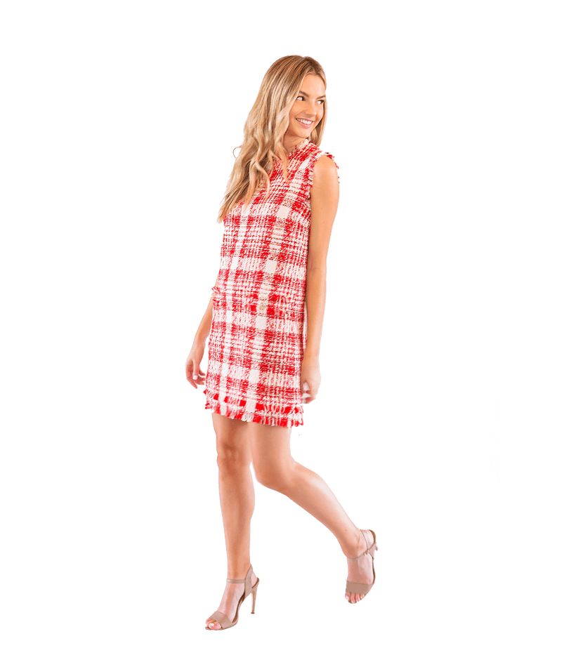 Check Tweed Mini Dress - Lady Jetset