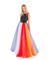 Silk Faille and Tulle Striped Gown - Lady Jetset