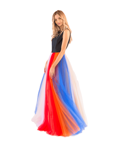 FINAL SALE Silk Faille and Tulle Striped Gown - Lady Jetset