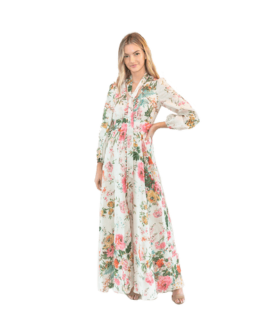 Floral Maxi Dress - Lady Jetset