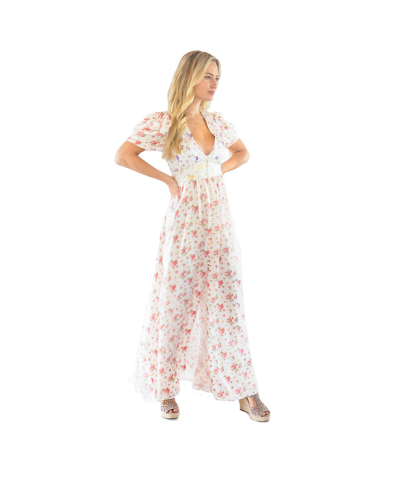 FINAL SALE Stacy Multi Floral Maxi Dress - Lady Jetset