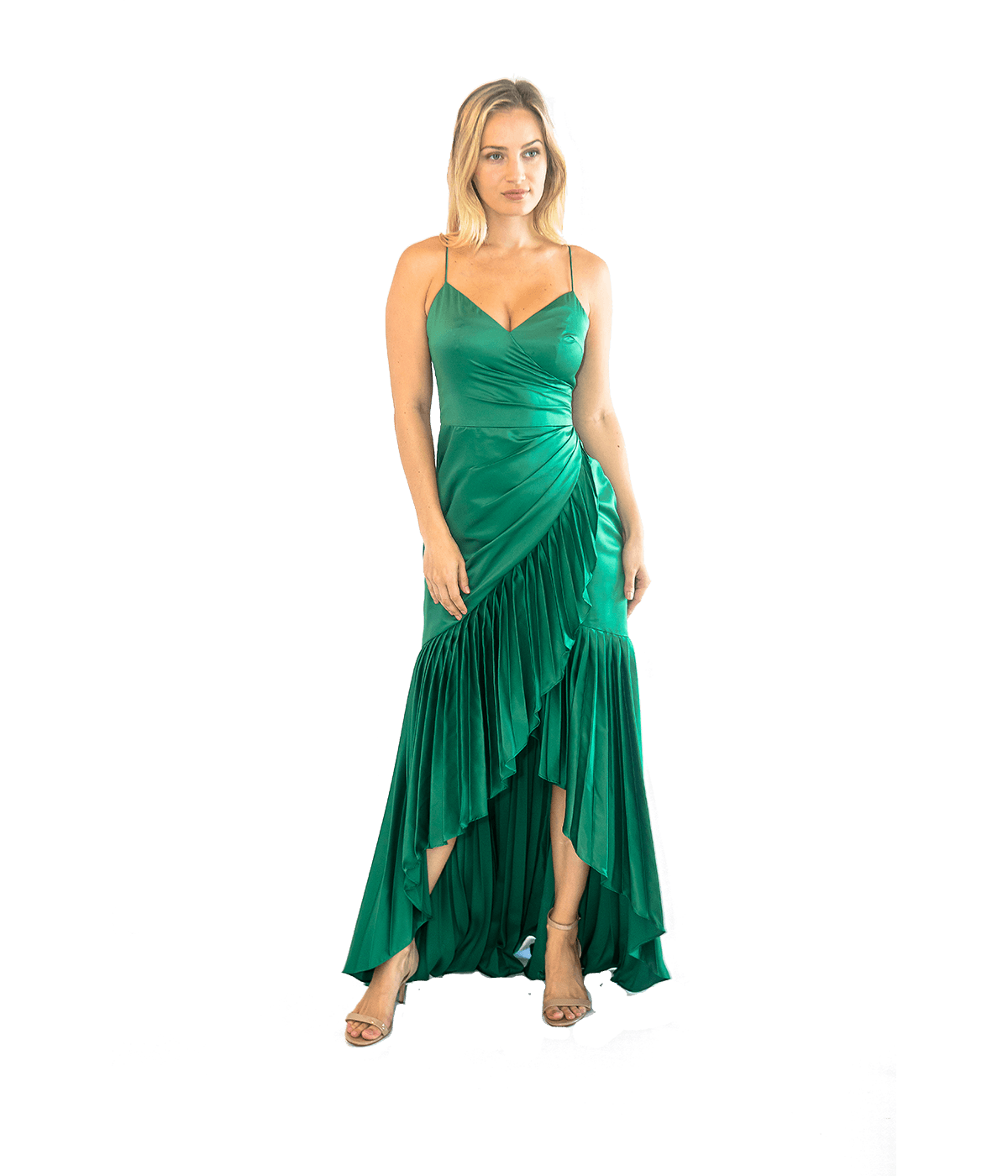 Sharona Pleated Gown - Lady Jetset