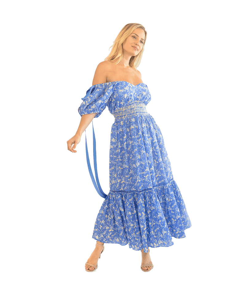 Angie Maxi Dress - Blue Jay - Lady Jetset
