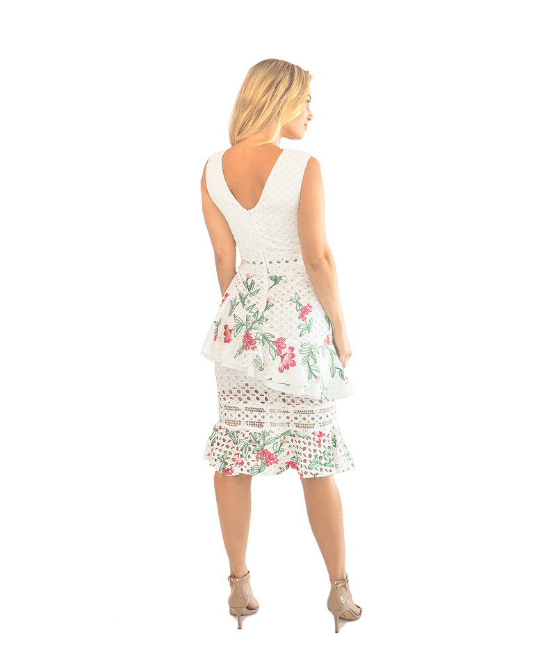 Floral Lace Midi Dress - Lady Jetset