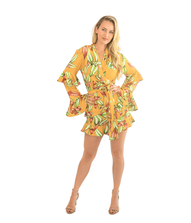 Zebrina Print Wrap Top - Lady Jetset