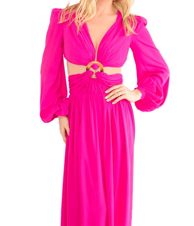 Flamingo Cutout Gown - Lady Jetset