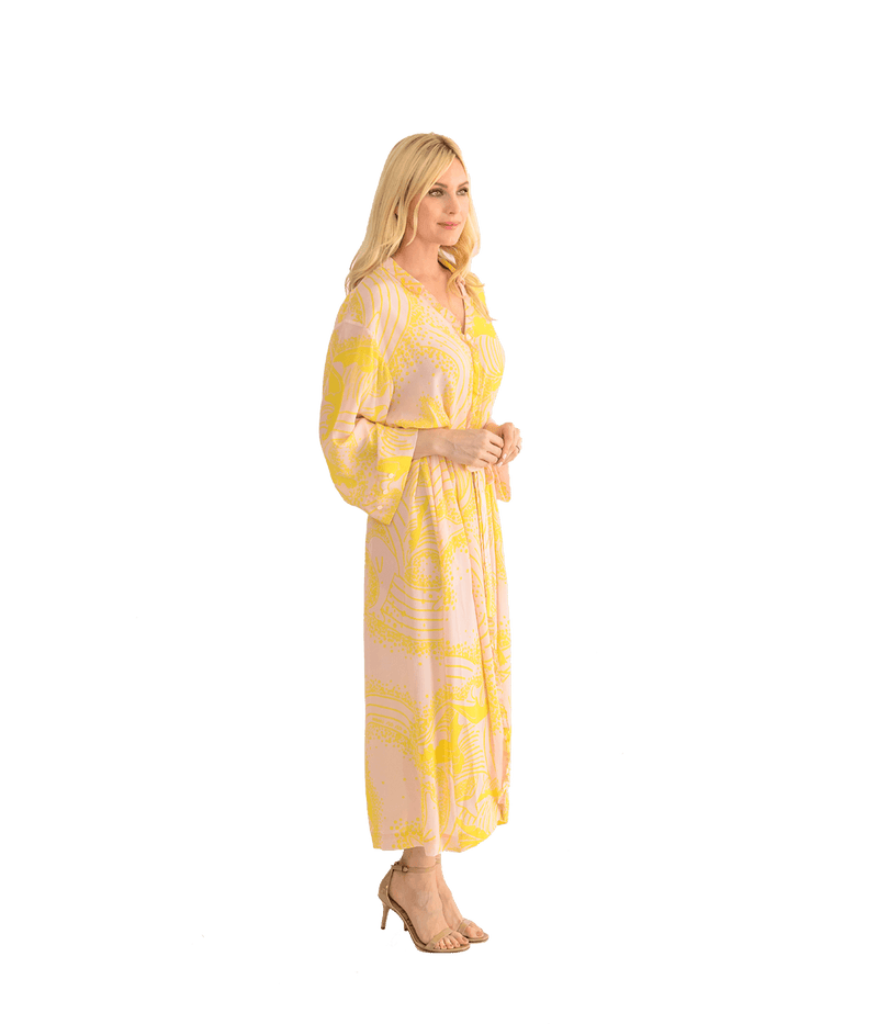 Coat Dress - Pink Yellow - Lady Jetset