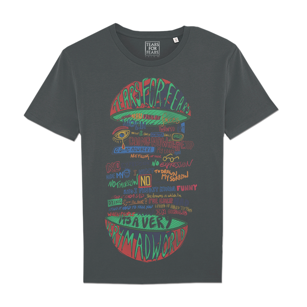 MAD WORLD LYRIC ANTHRACITE T-SHIRT