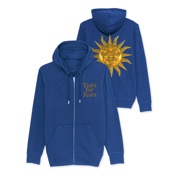 SUN STEEL BLUE ZIP HOODY