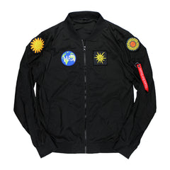PATCH BLACK BOMBER JACKET