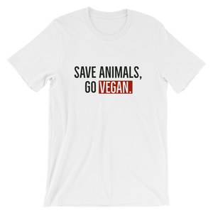 SAVE ANIMALS, GO VEGAN.