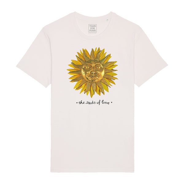 SEEDS OF LOVE SUNFLOWER WHITE TEE