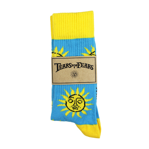 SUN SYMBOL BLUE SOCKS MENS 7/11