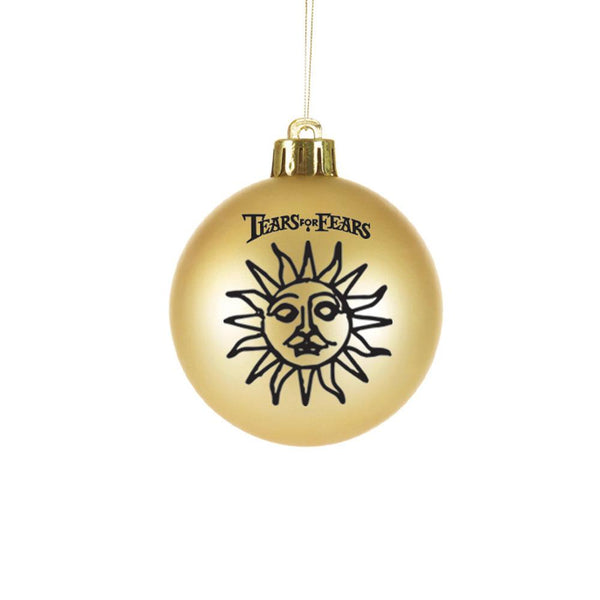 GOLD SUN 70MM BAUBLE