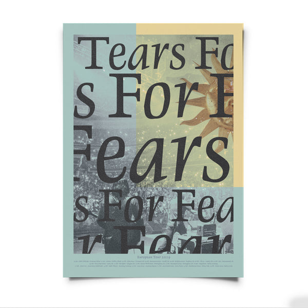TEARS FOR FEARS 2019 EU TOUR POSTER
