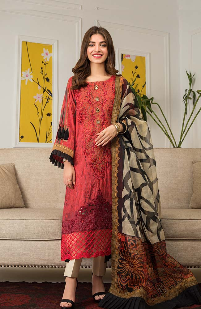 Al Zohaib MEC20 01 Mahnoor Embroidered Collection 2020