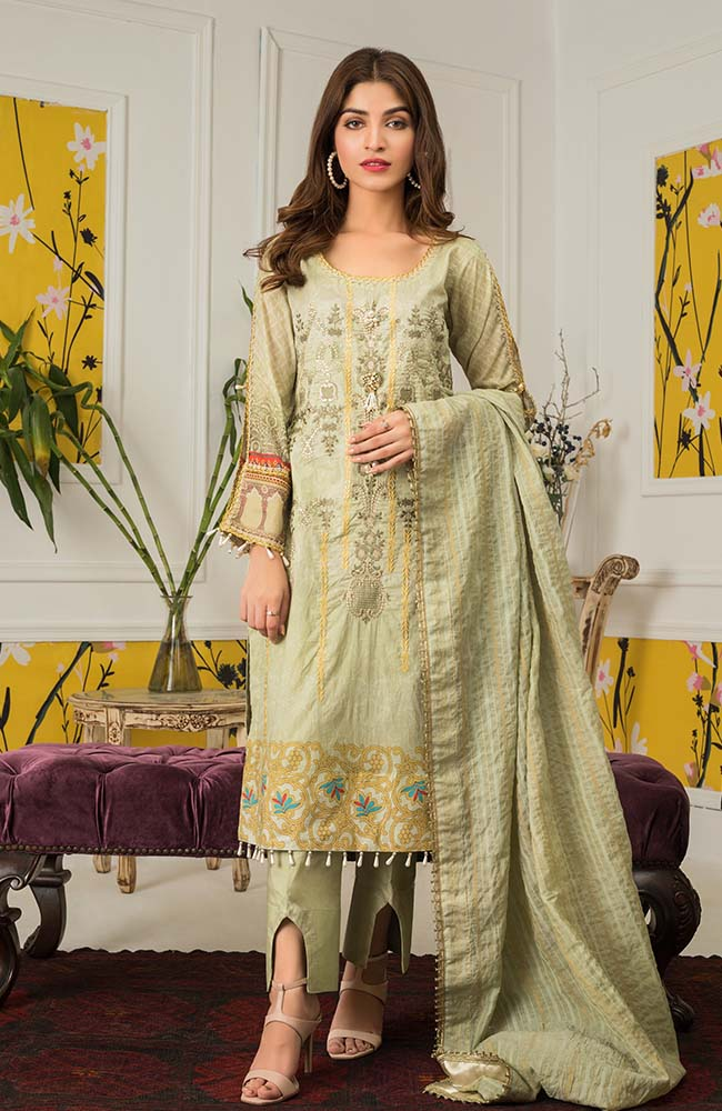 Al Zohaib MEC20 09 Mahnoor Embroidered Collection 2020
