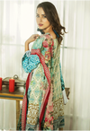 Sunshine Bloom Cotton Silk Collection by ALZOHAIB - 3 Piece Printed Unstitched Suit SB 14B
