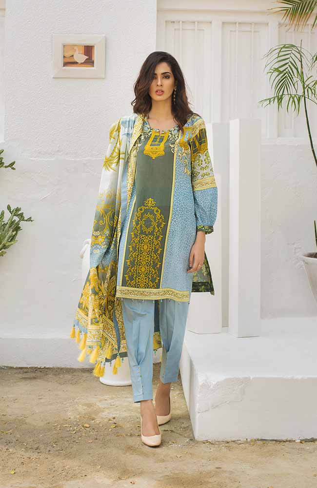 CL-08A Colors Printed Lawn'19
