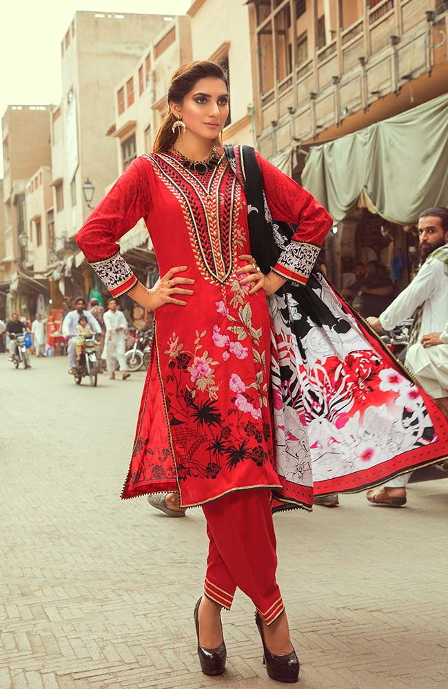 Al Zohaib RNE20-01A Rung Embroidered Collection 2020