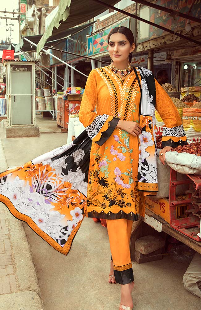 Al Zohaib RNE20-01B Rung Embroidered Collection 2020