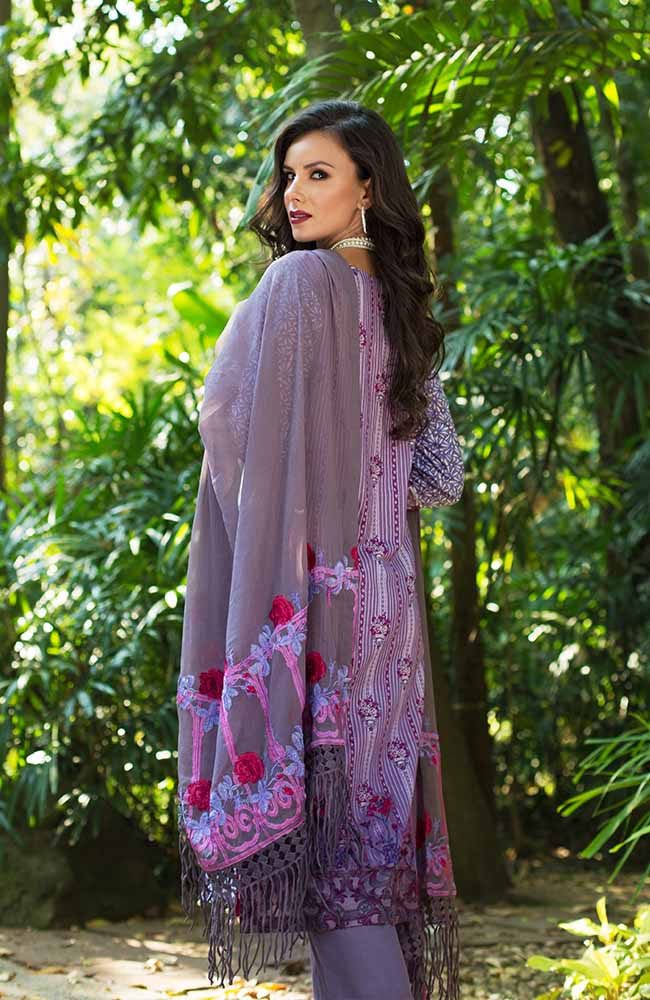 MF19L2 1A - Monsoon Festivana Embroidered Lawn Vol.2