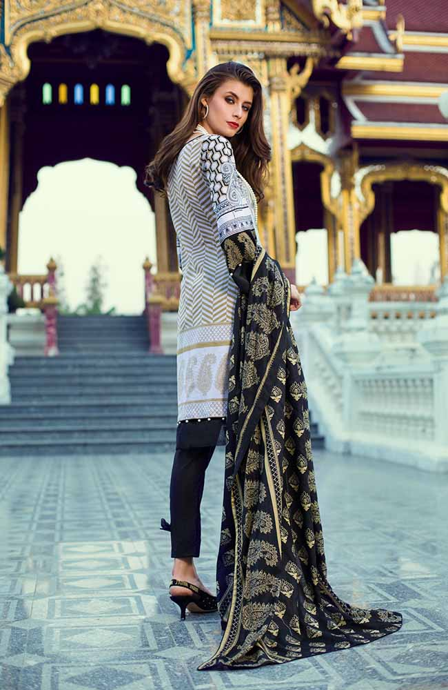 Monsoon Lawn Collection 2019 by ALZOHAIB - 3 Piece Printed Lawn Suit - 01A