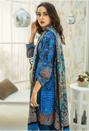Sunshine Bloom Cotton Silk Collection by ALZOHAIB - 3 Piece Printed Unstitched Suit SB 24
